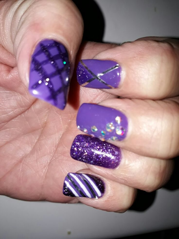purple with midnight stardust. ❤