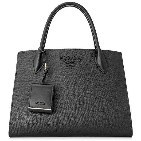 ee4e566866aa Prada Saffiano Cuir City Calf Monochrome Bag 32Cm ( 2