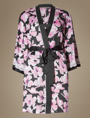 Matching short robe