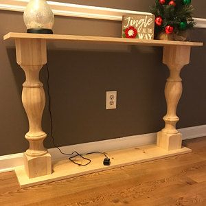 Pair Unfinished Monastery Console Table Legs Set Of 2 Turned Posts In 2020 Diy Sofa Table Small Entryway Table Table Legs