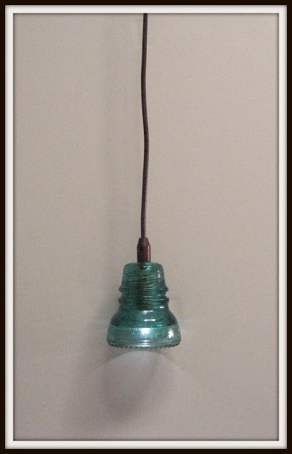 Remodelaholic | Recycling Glass Insulators Into Pendant Light