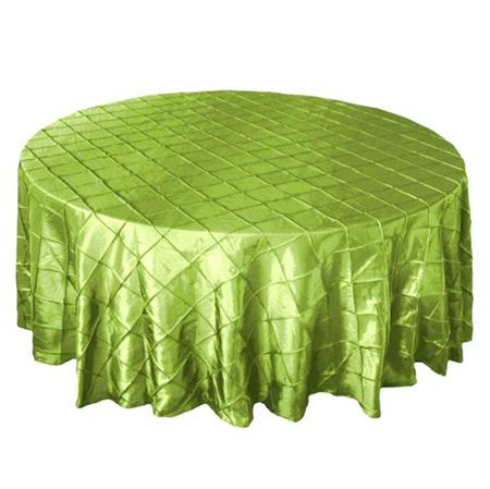 TCPK 90AG 90 In Round Pintuck Apple Green Tablecloth