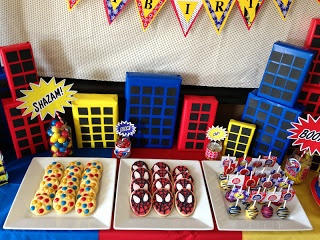 NatalieKMudd: Spiderman Birthday Party, could make buildings with boxes, gift wrap, black construction paper?