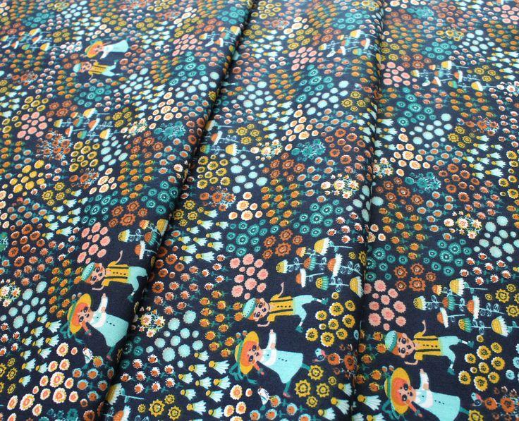 Birch Fabrics The Hidden Garden Meadow Frolic Dusk