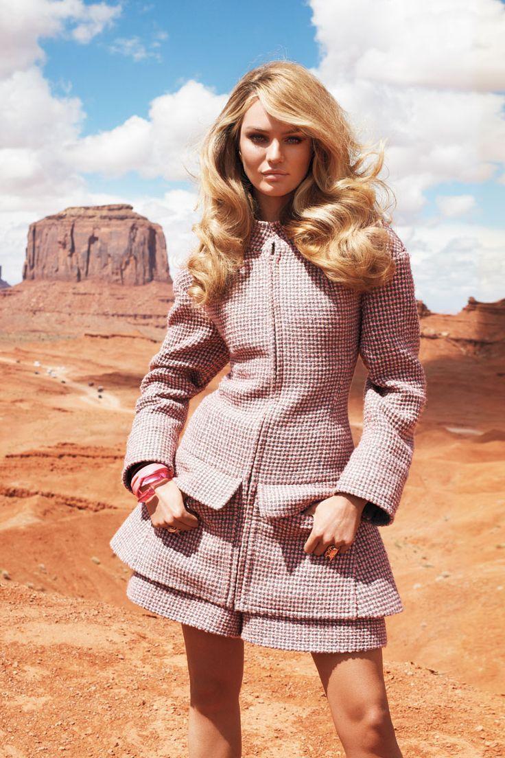 Candice Swanepoel Fall 2013 Fashion Shoot – Candice Swanepoel Models Blush Fall Looks - Harper's BAZAAR