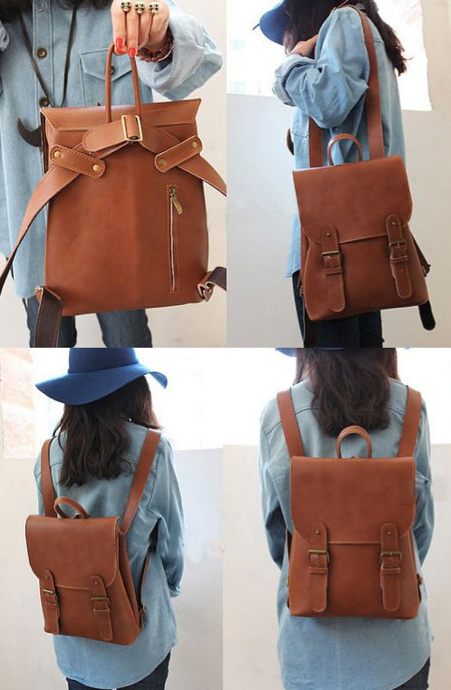 Lovely Handmade Leather Vintage Backpack/Shoulder Bag /Satchel ...