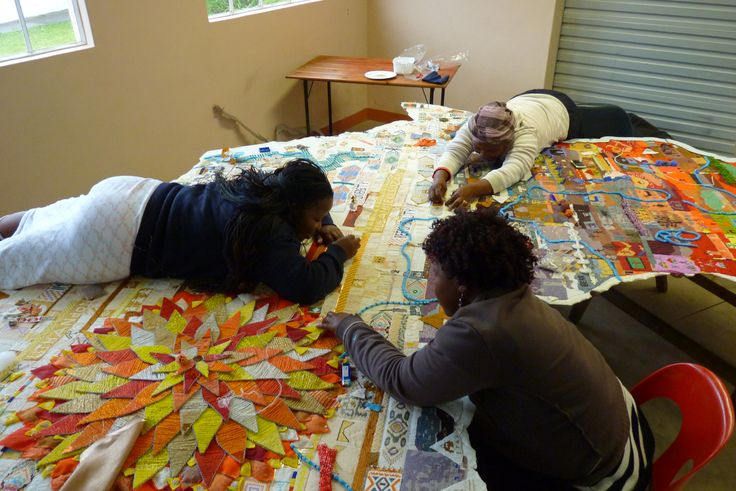 The Making of the largest beaded Love Letter in the World :) Hillcrest AIDS Centre - Woza Moya