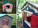 Before  After: A Little Tikes House Gets a Paint Job | Apartment Therapy