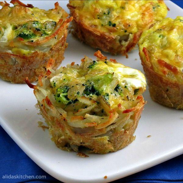 Broccoli, Cheddar & Egg Hashbrowns Cups