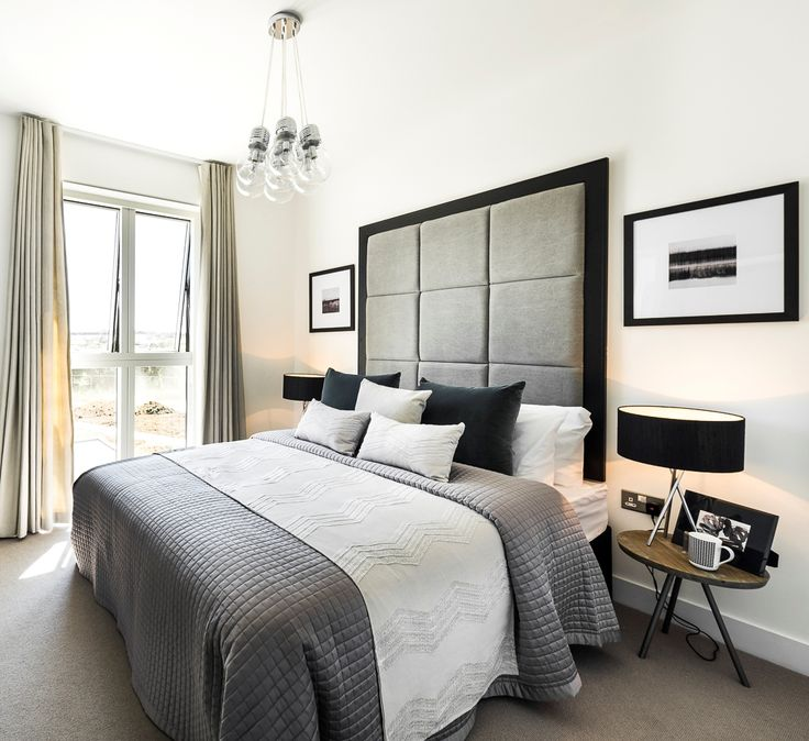 Cool and bright bedroom created by Artspace Interior Design Ltd
