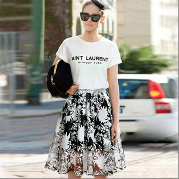 人気のちょい甘 レディースファッション通販2枚セット ロゴTシャツ オーガンジー 花柄 ミディ丈 膝丈 フレアスカート ts05c02663 規程