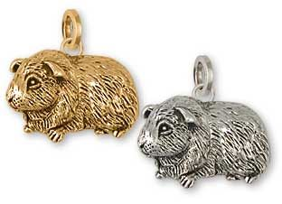 Guinea Pig Charm and Guinea Pig jewelry and charms in silver and gold