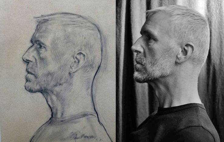 Stefan Blom | Charcoal on paper inspired photograph of Tako Soulman by René Frese