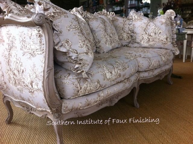 Upholstered French Sofa~Stunning in Normandie!
