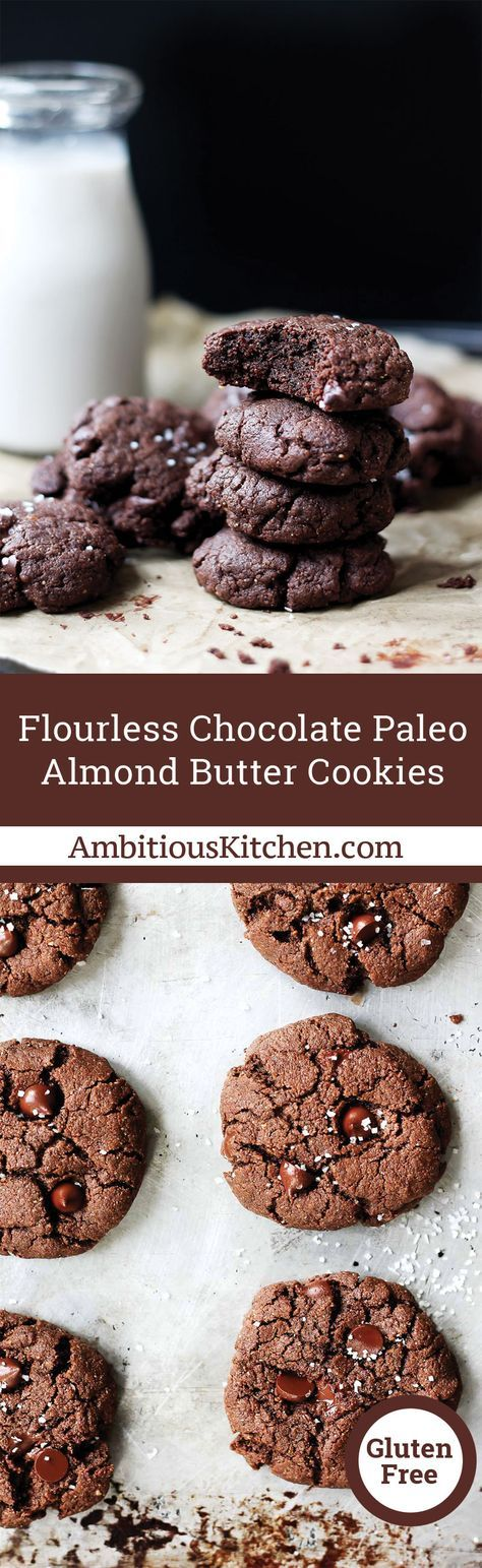 Delicious brownie-like chocolate almond butter cookies made with a handful of simple, healthy ingredients. Are you guys ready for the easiest and most delicious almond butter cookie recipe ever?! Yes that's right, you can have fudge-like brownie chocolate almond butter cookies in just 15 minutes!