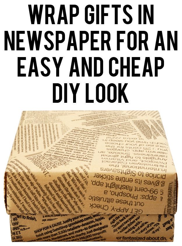 Use newspaper as wrapping paper. | 27 Clever Gift Wrapping Tricks For Lazy People