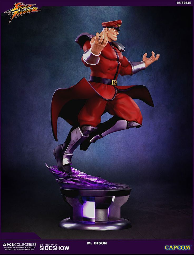 The M. Bison Quarter Scale Ultra Statue by Pop Culture Shock is available at Sideshow.com for fans of Street Fighter V and video games.