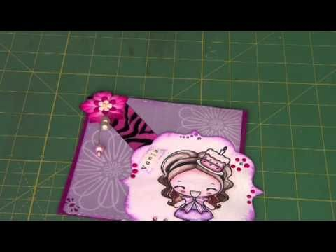 Tutorial: spille decorative scrap (fatte in casa) più card