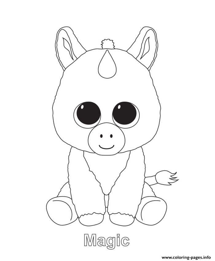 Magic Beanie Boo Coloring Pages Unicorn Coloring Pages Baby