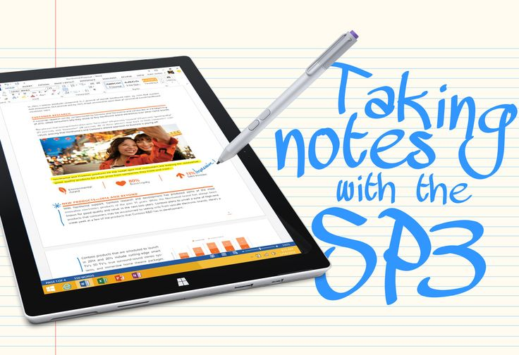 Taking notes with the Surface Pro 4 http://www.melissadecapua.com/blog/taking-notes-with-the-sp3