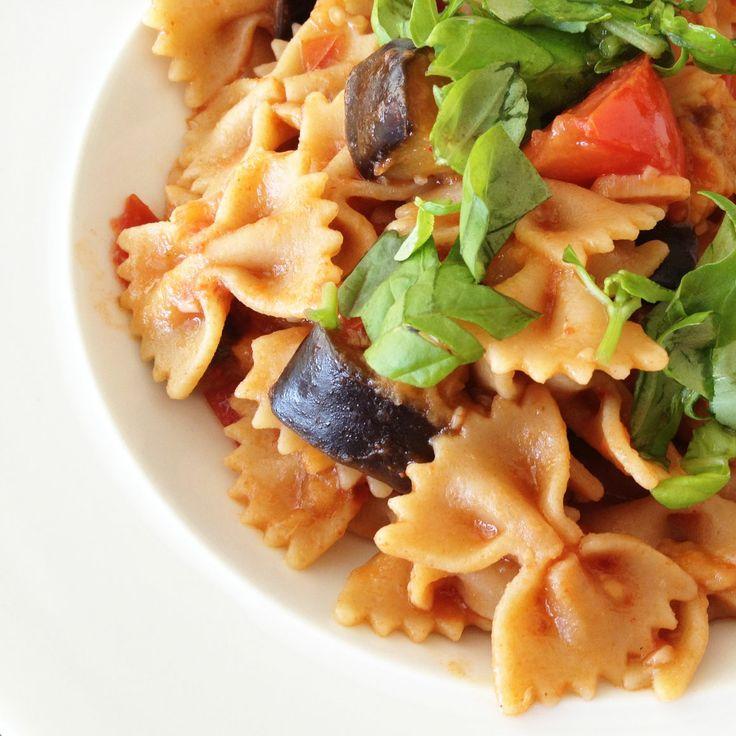 Tomaten-Auberginen-Pasta - Макароны в томатно-баклажановом соусе