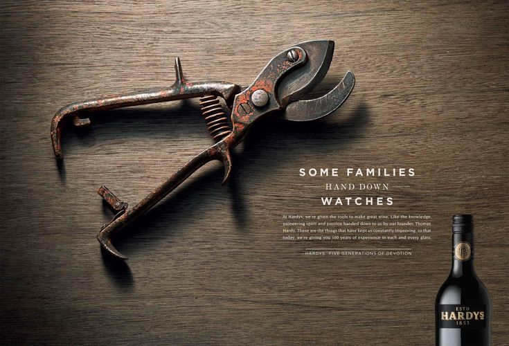 Hardys Wine: Shears | Ads of the World™