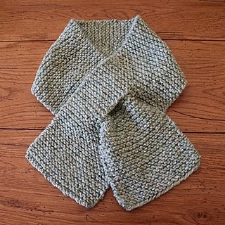Knit Scarf With Button Hole Pass Thru Knitting Etc