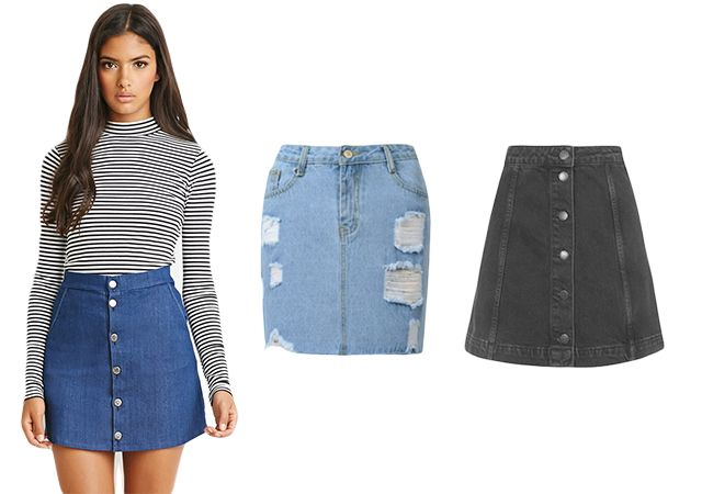 Denim Mini Skirts