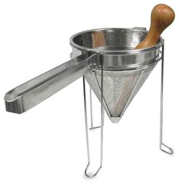 Stainless Steel Strainer & Pestle contemporary-food-mills