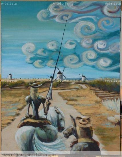 Don quijote y Sancho Panza Silvia Blázquez Jiménez - Artelista.com
