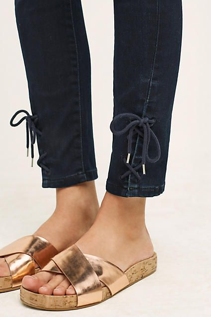 Pilcro Stet Lace-Up Crops - anthropologie.com
