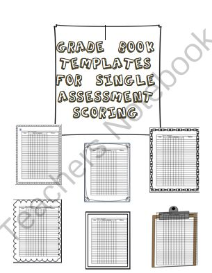 Best Gradebook Templates Images On   Assessment Home