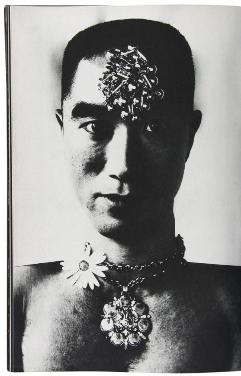 Yukio Mishima photographed by Eikoh Hosoe, 1963. From the book, Ba-ra-kei (Killed/Ordeal by Roses). °