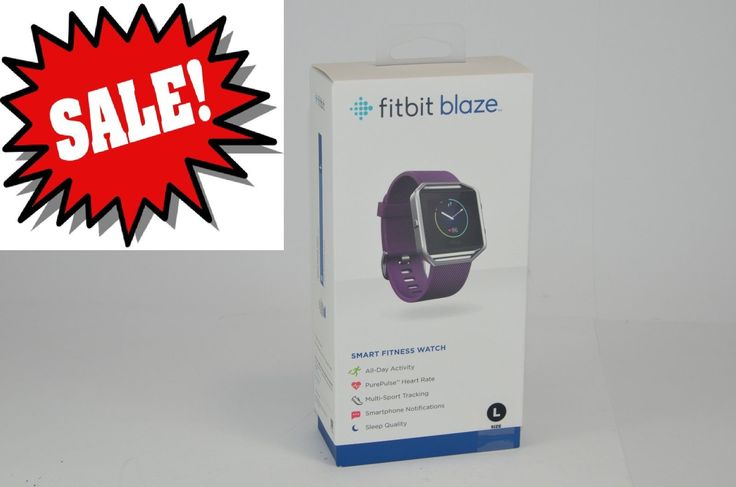 Fitbit - Blaze Smart Fitness Watch Activity Tracker (Large) - Plum (Purple)