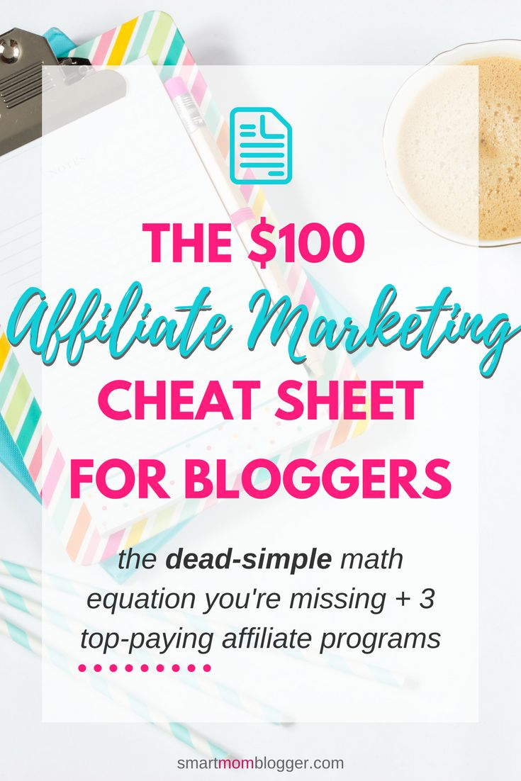 How to make money from affiliate marketing on your blog doesn't have to be confusing. This free cheat sheet reveals the simple equation most bloggers miss + 3 high paying affiliate programs.  Pin for later or click for your instant download :)