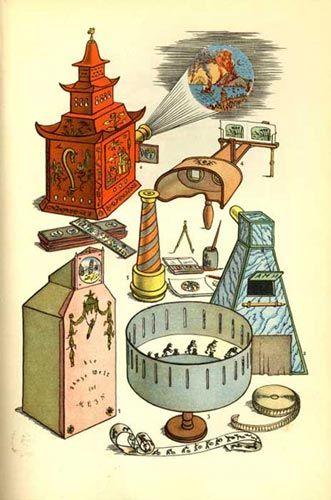 Optisch speelgoed: Vroege Visuele Media - Pre-cinema - Optische speelgoed - Animatie - Plateau - Zootrope - Filosofische speelgoed