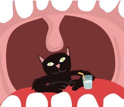 Avoir un chat dans la gorge = Être enroué