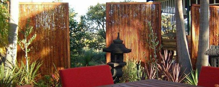 Bamboo in Rebated Frames Jati Bamboo Screens #BamboScreens #BambooFencing #Fencing #Natural