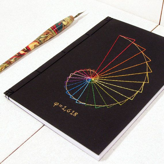 Golden Ratio Journal. Geometry Notebook. by FabulousCatPapers