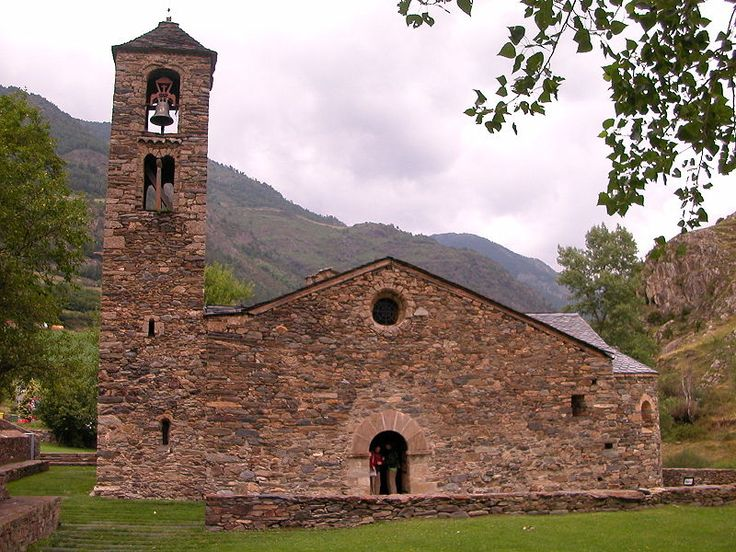 Sant Martí de la Cortinada, a 12th-century Romanesque church in La Cortinada