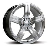 "RIVA MSX in Hyper Silver Specification: Size: 18"" x Width:8.0J or 8.5J Fitment: 5 stud only  PRICE, SET OF 4 £432"