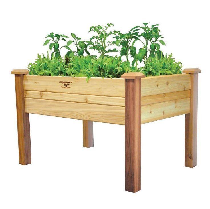 Elevated 2Ft X 4 Ft Cedar Wood Raised Garden Bed Planter 400 x 300