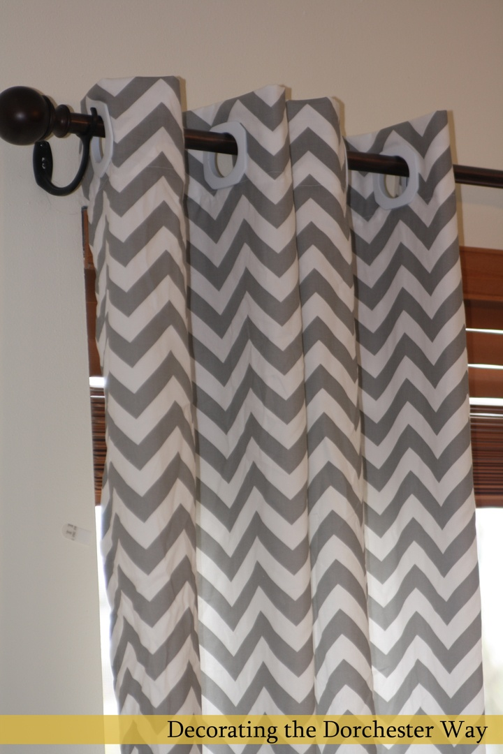Grey Chevron Curtains @Brittany Horton Brown Cockerill