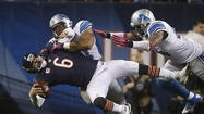 Chicago Bears beat the Detroit Lions 13-7 to improve their record to 5-1 on (10/22/12). The Bears survived a brief injury scare to Jay Cutler and secured an important NFC North victory by defeating the Detroit Lions 13-7 on Monday night (10/22/12).