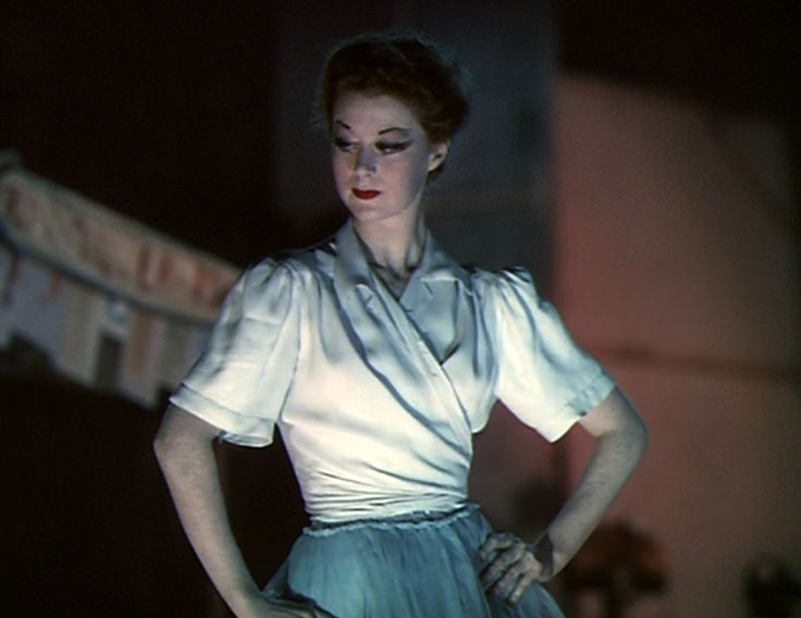 The Red Shoes. Moira Shearer during a rehearsal.