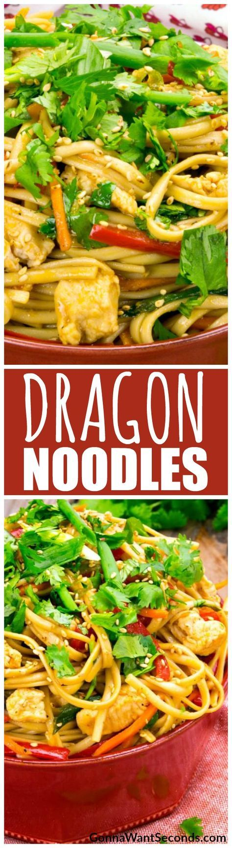 Fire up your wok for this dynamite Dragon Noodles recipe. Soft lo mein tossed with tender chicken and crisp veggies served up in a scorching sauce is just what you need to spice up your dinner table!