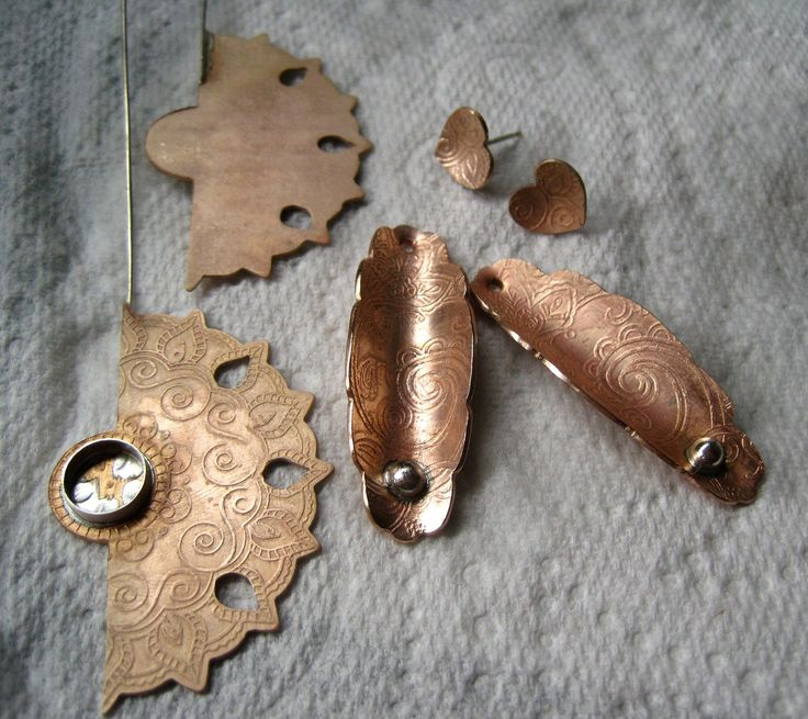 New Earrings And Having Fun With Bronze Sheet in 2020