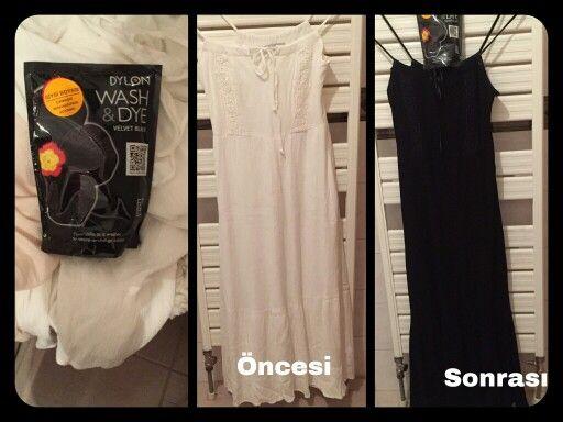 Gülşen hanım bizden aldığı , Dylon Velvet Black -Wash Dye..boyamız ile elbisesini rengini değiştirmiş..güle güle kullansın..      http://www.gagva.com.tr/Kadife-Siyah-Velvet-Black-Wash-Dye,PR-876.html ve #carrefoursa lardan bu rengimizi temin edebilirsiniz!