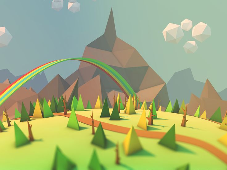 low-poly landscape by Zigor Samaniego