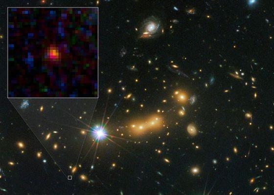El 'Hubble' fotografía la galaxia más lejana del universo captada hasta ahora